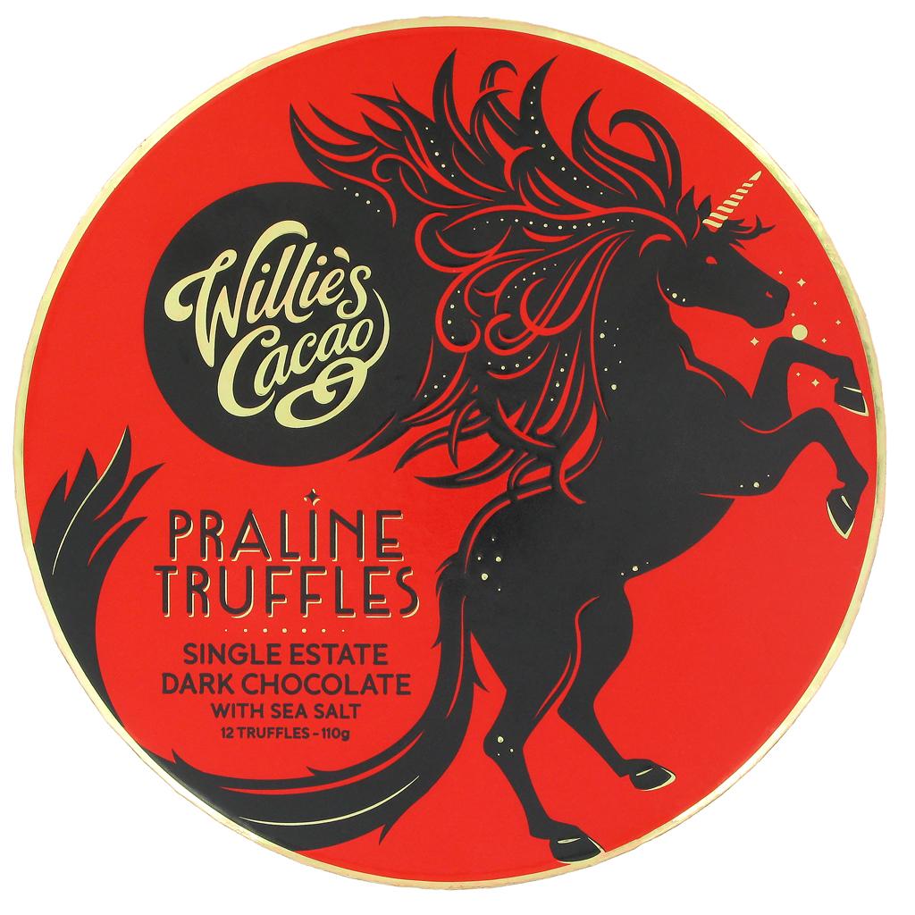Praline truffles (dark chocolate)