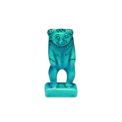 Egyptian turquoise figurine (Bes)