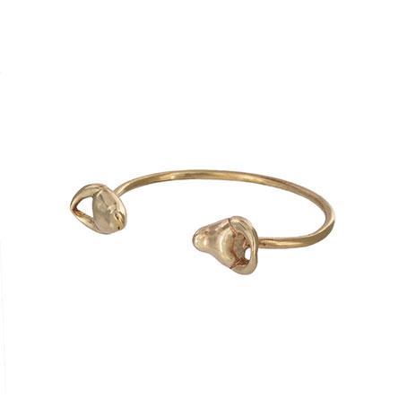 Bronze bulls head bracelet