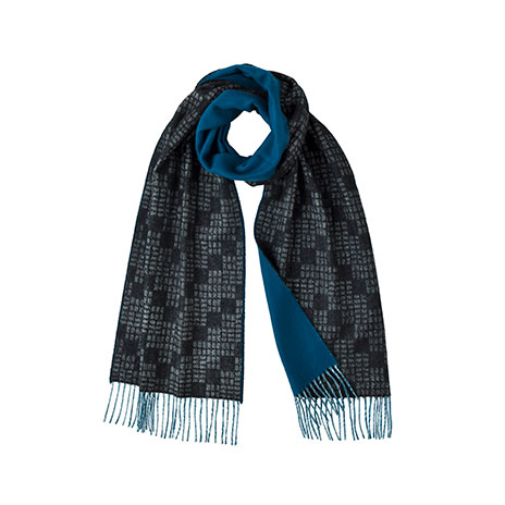 Graphic reversible scarf