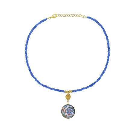 Iznik blue necklace