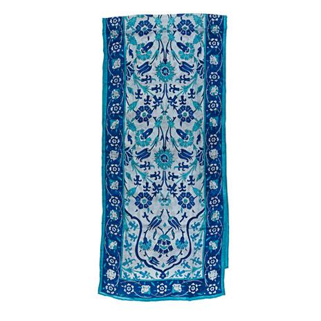 Iznik scarf, silk