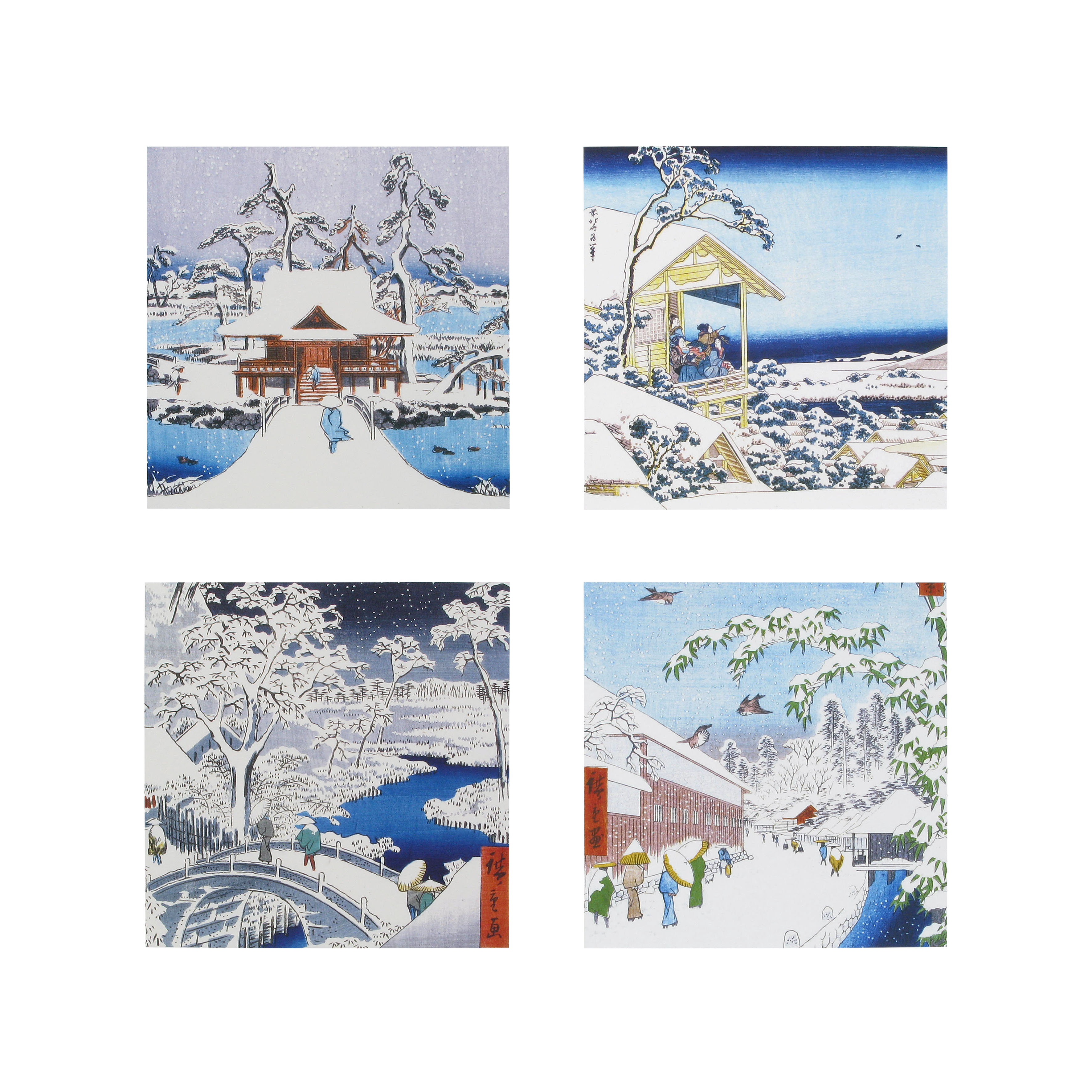 Japanese christmas cards pack of 20 m4hsunfo