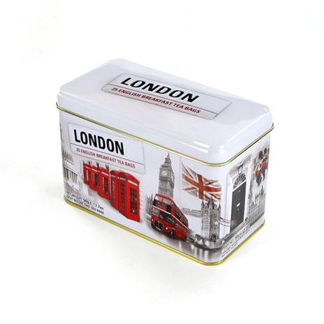 London Scene tea tin