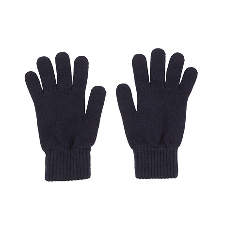 Mens cashmere gloves (navy)