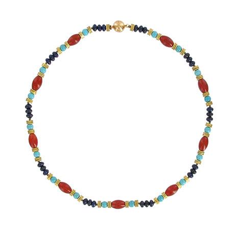 Nefertiti beaded necklace