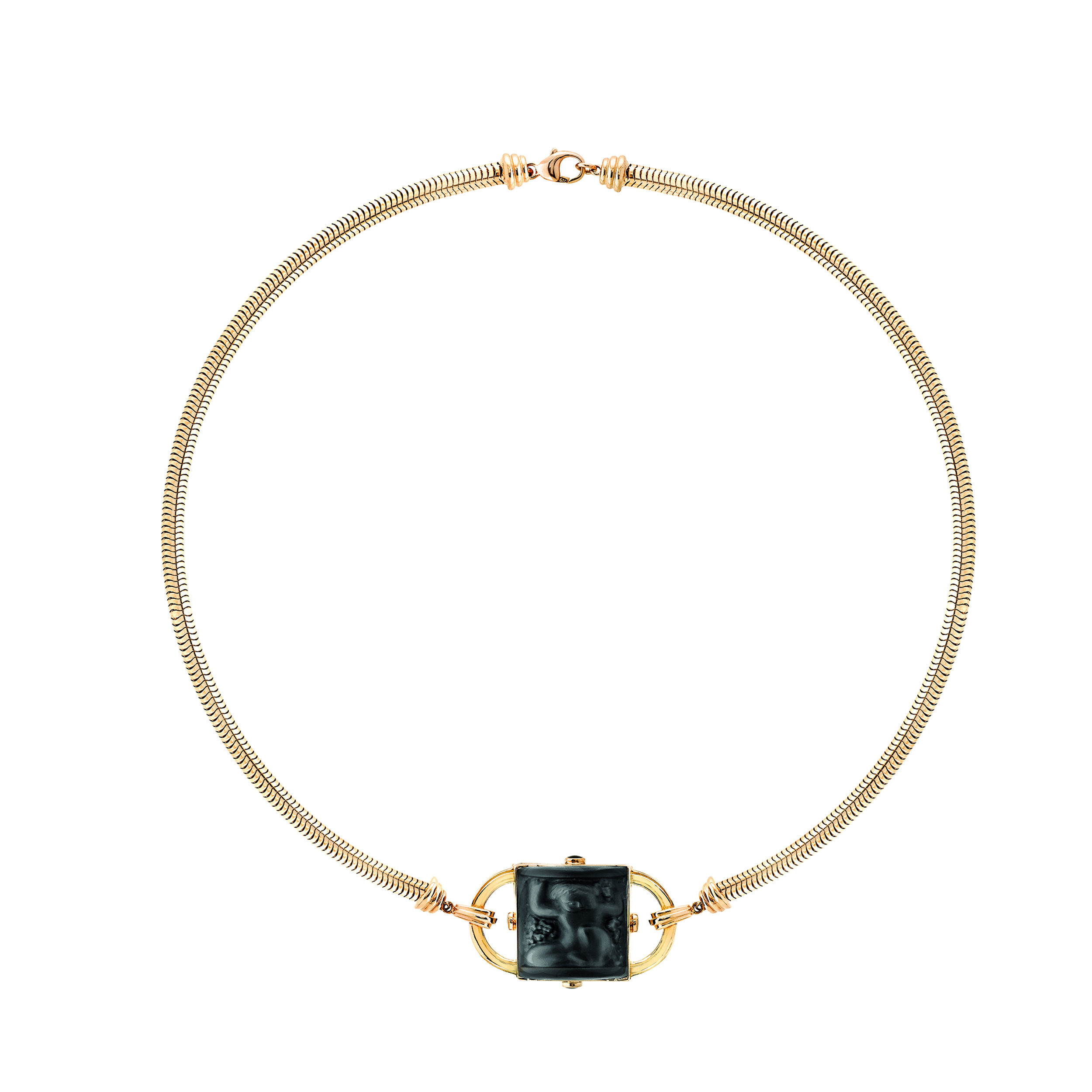 Nysa vermeil and crystal necklace
