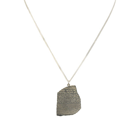 Rosetta Stone silver necklace