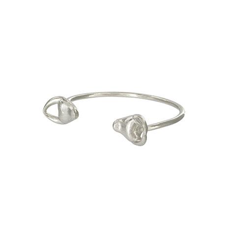Silver bull head bracelet