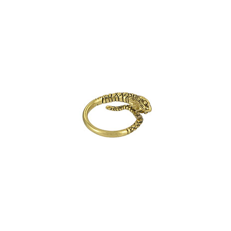 Snake coil ring (gold)