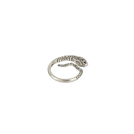 Snake coil ring (silver)