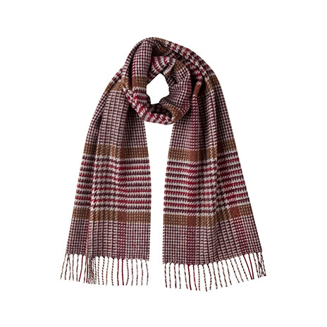 Vintage red checked scarf