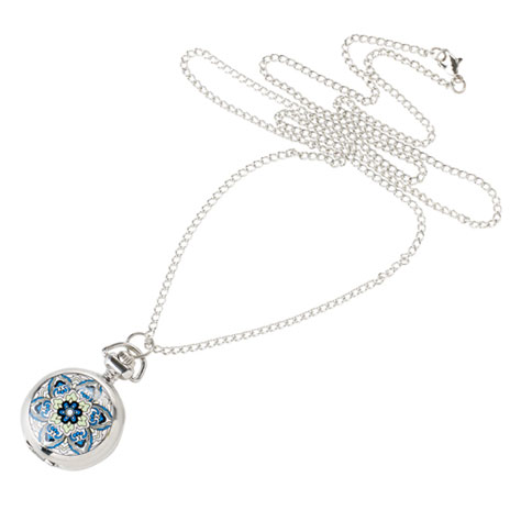Iznik watch necklace