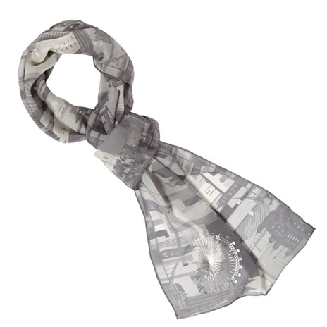 London skyline silk scarf