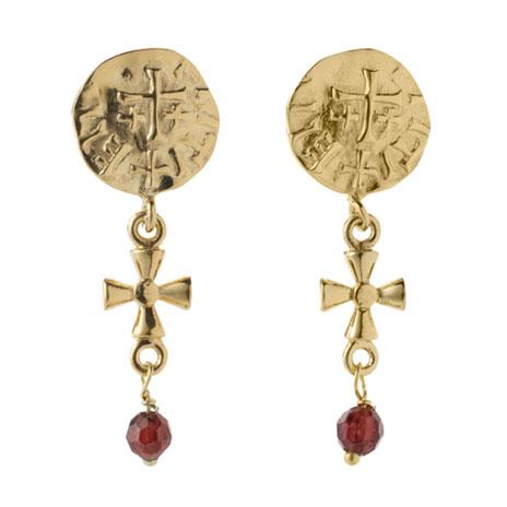 Sutton Hoo garnet earrings