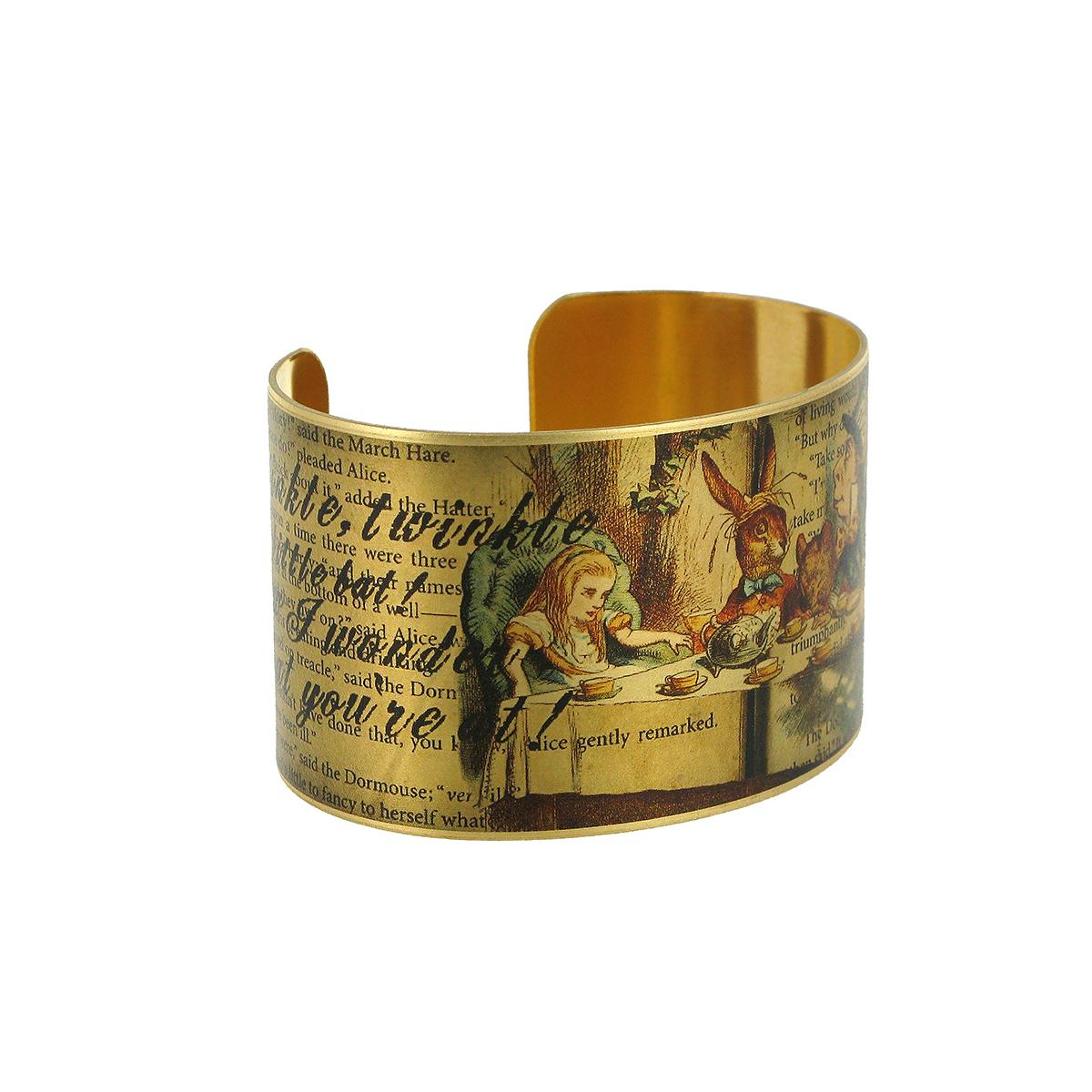 Alice in Wonderland bracelet cuff