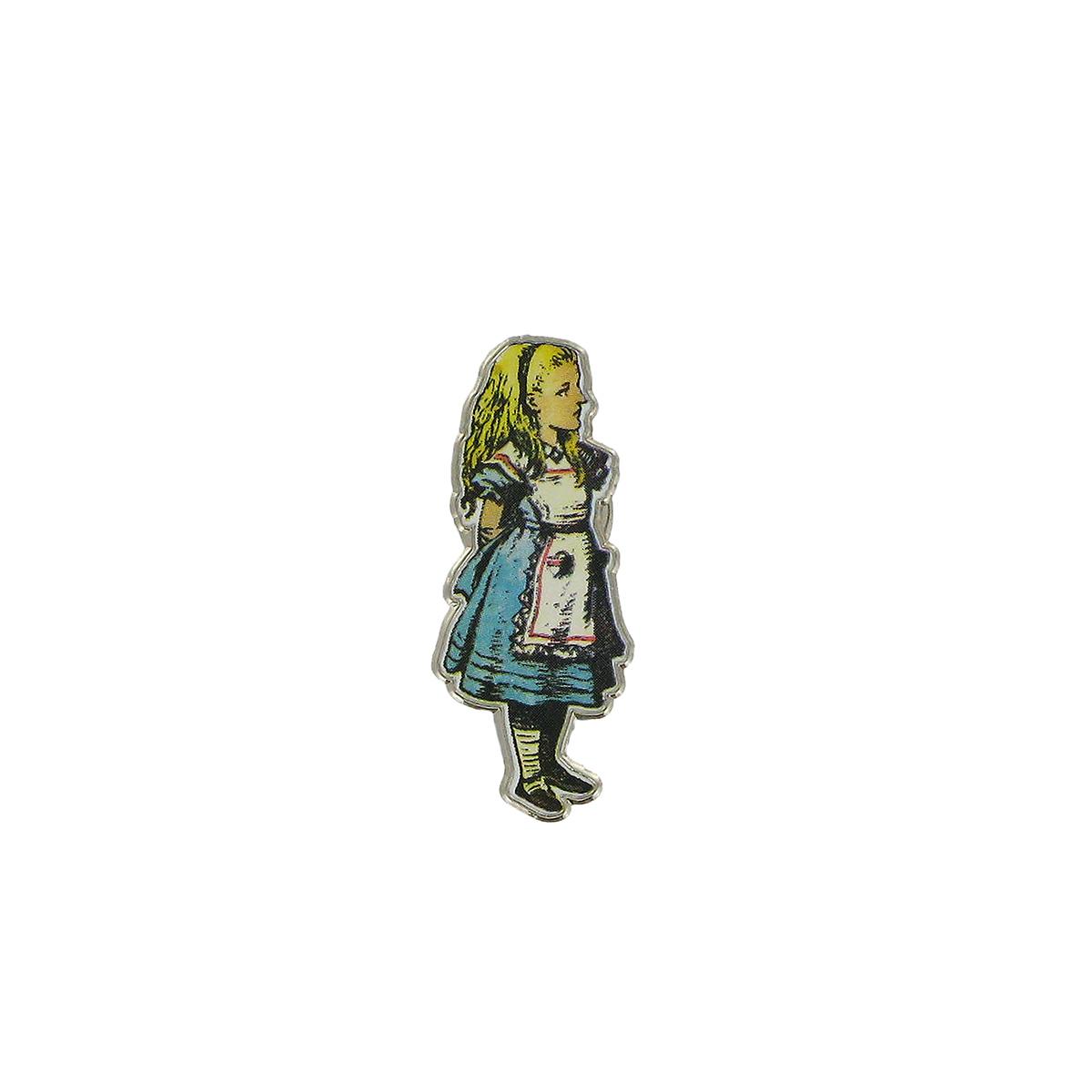 Alice in Wonderland pin badge