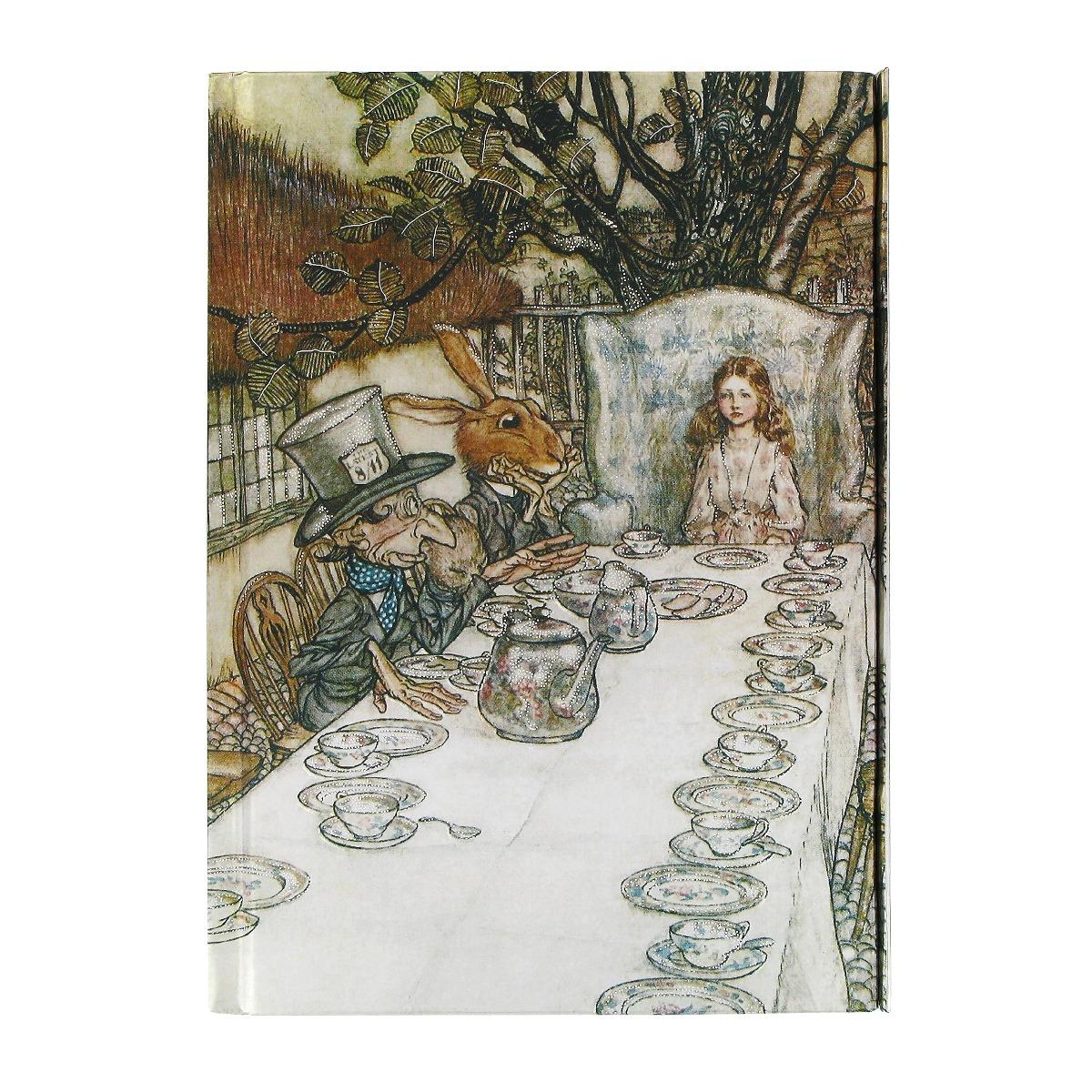 Alice in Wonderland tea party notebook