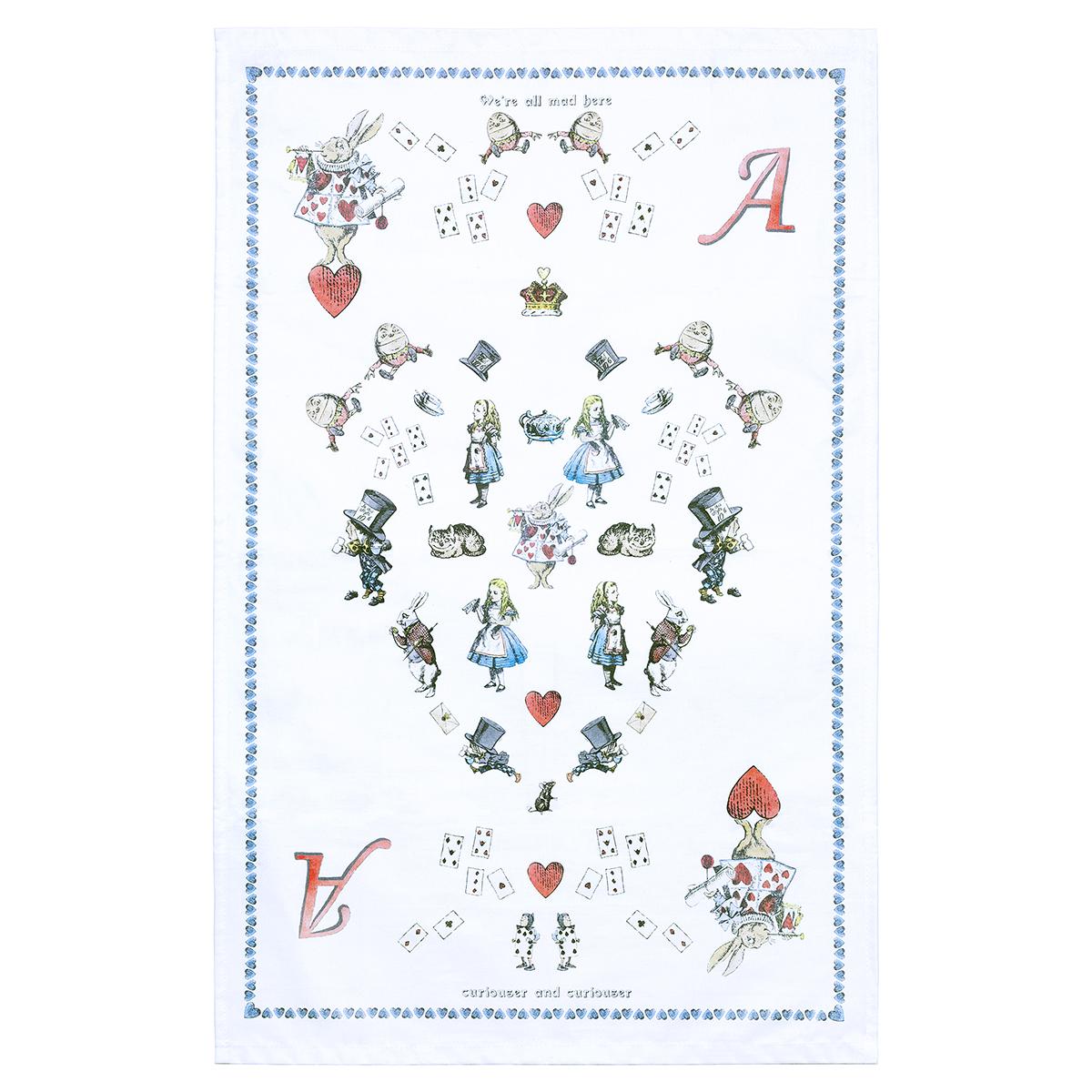 Alice in Wonderland Tea Towel