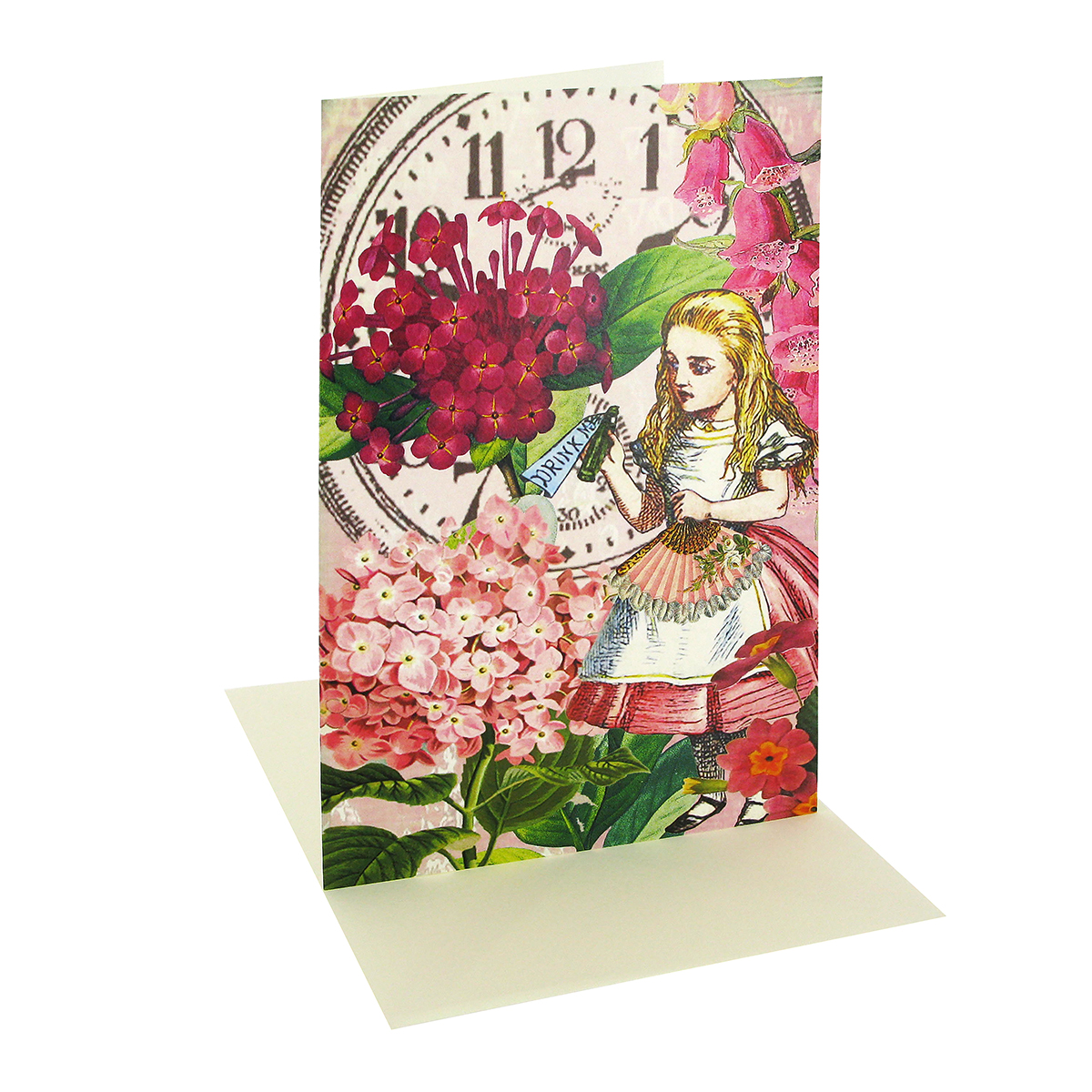 Alice in Wonderland greeting card (colour)