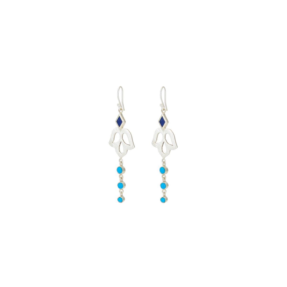 Alina blossom drop earrings