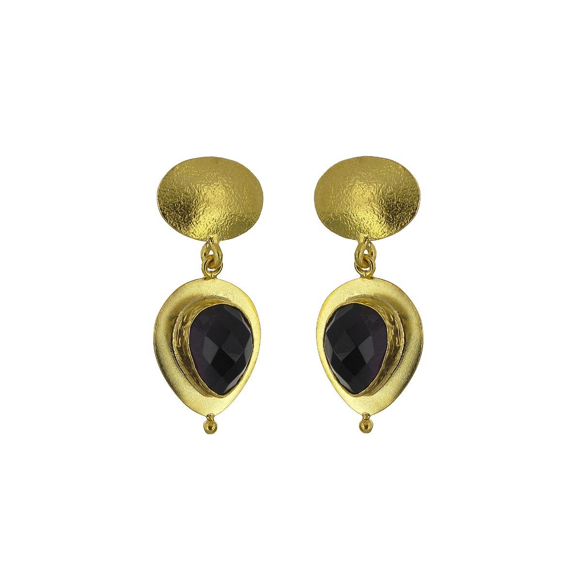 Amethyst teardrop earrings