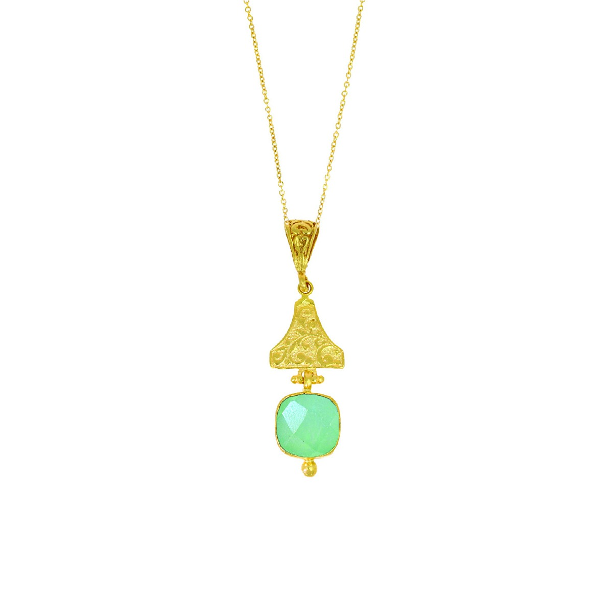 Aqua chalcedon necklace