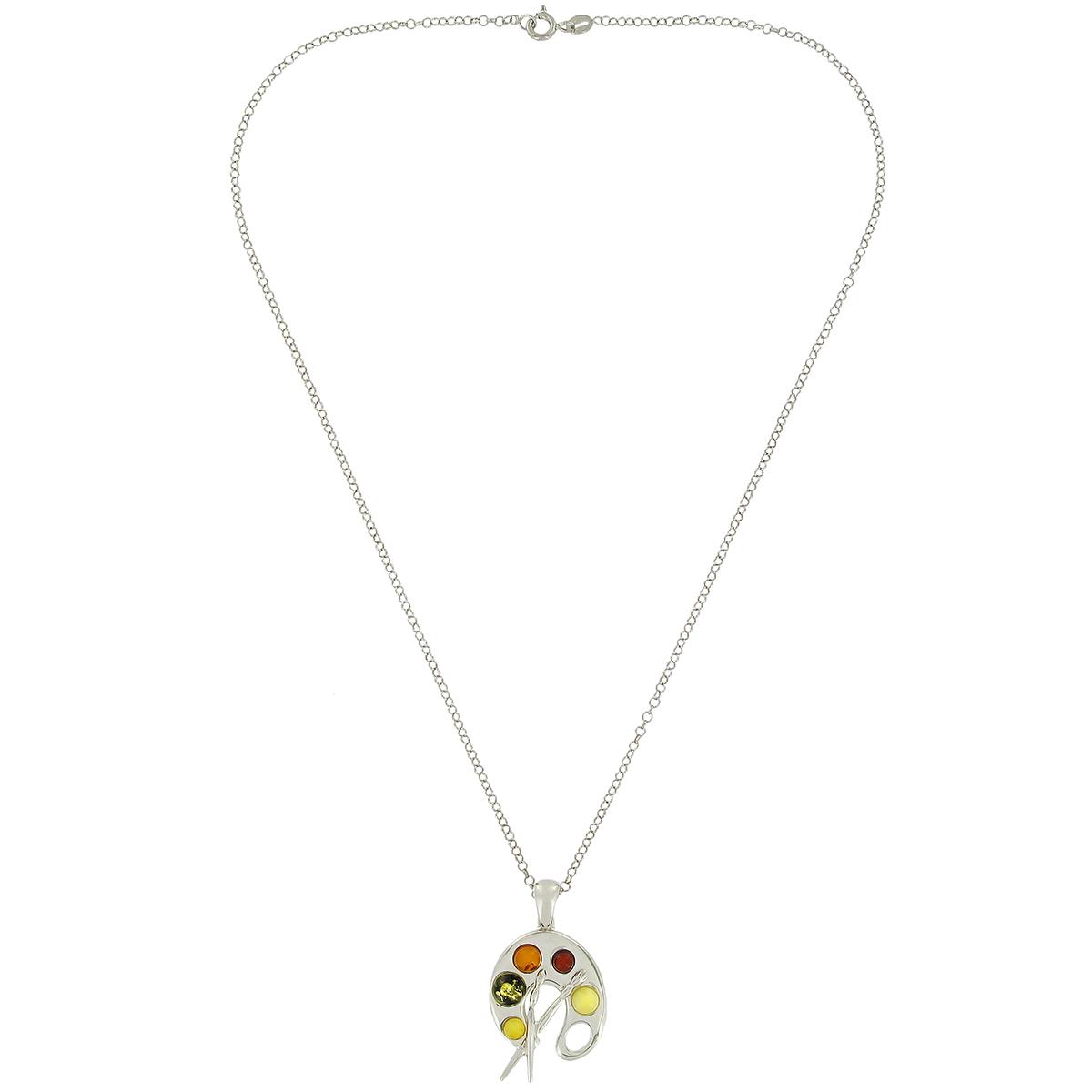 Artist Palette Pendant Necklace