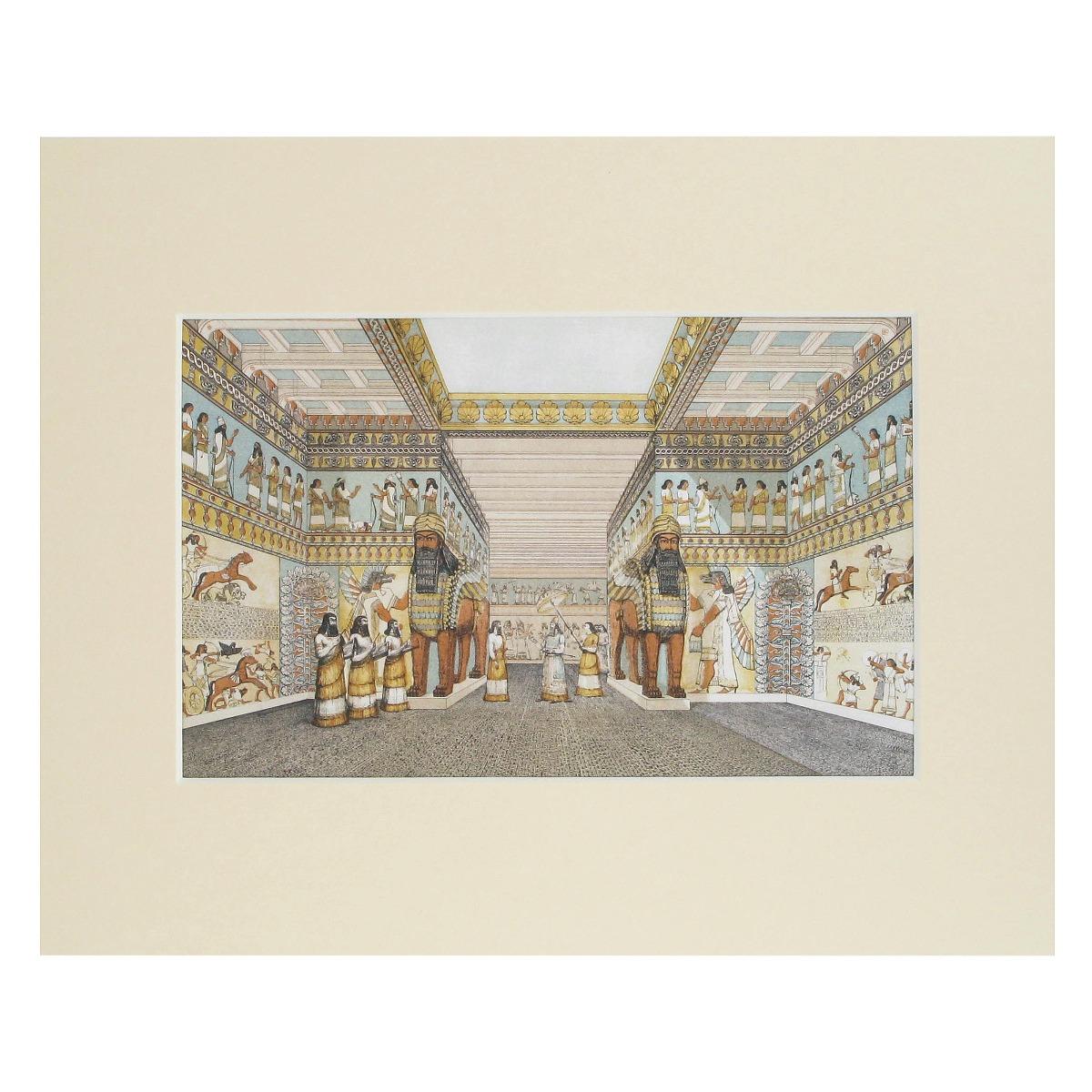 Assyrian palace mounted prints