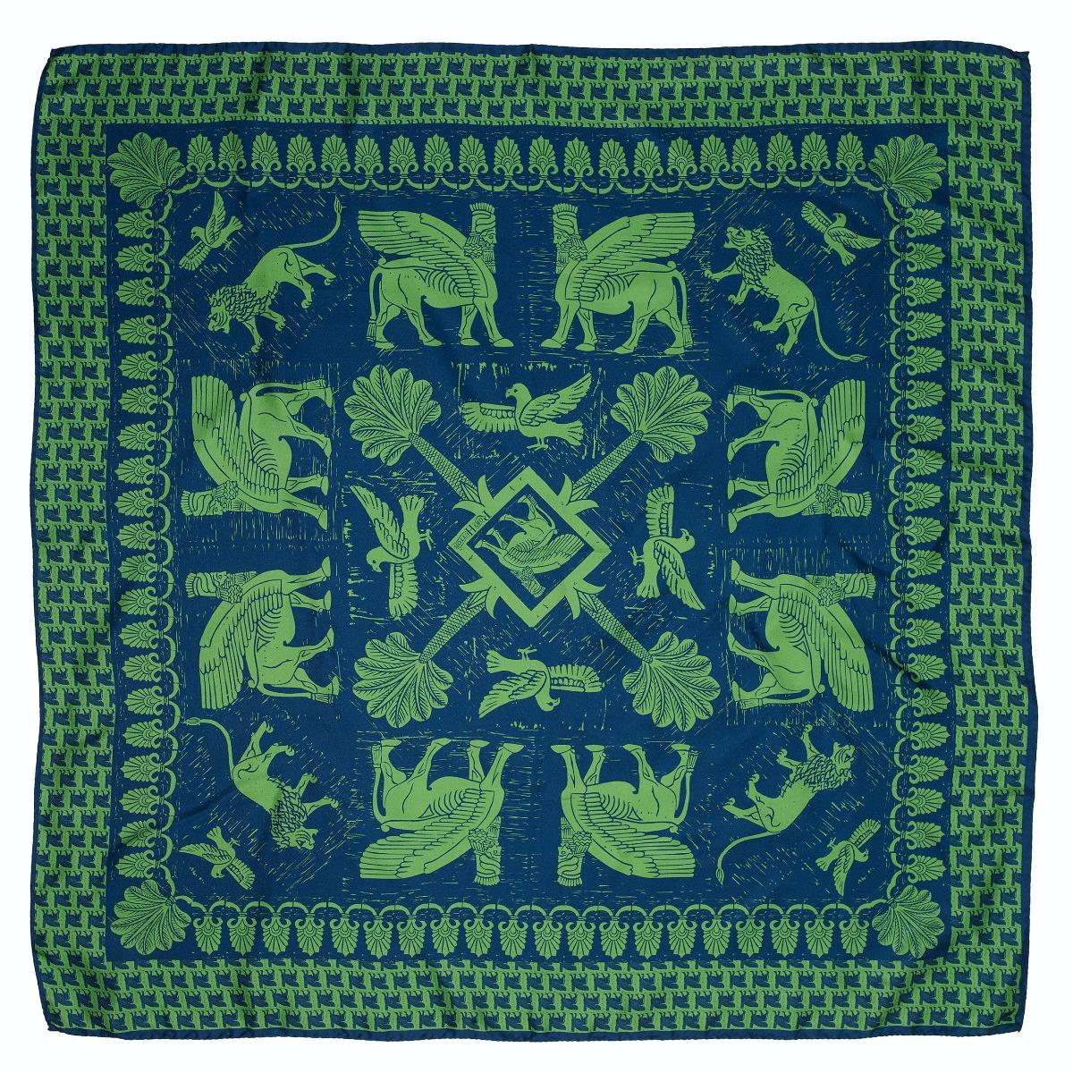 Assyrian silk scarf (green)