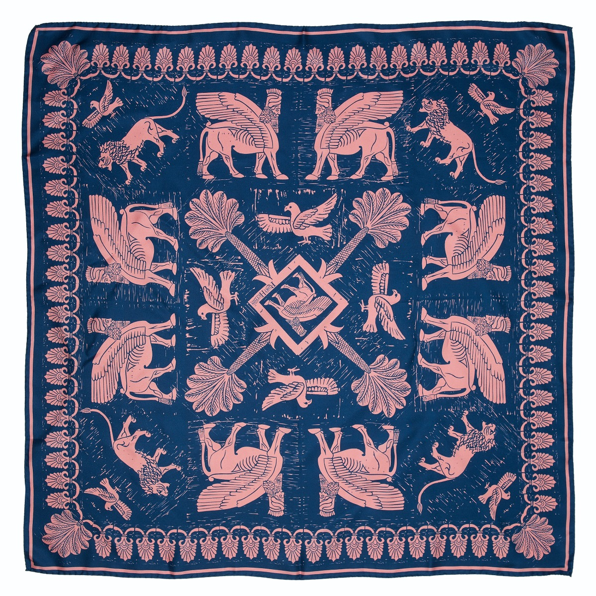 Assyrian silk scarf (pink)