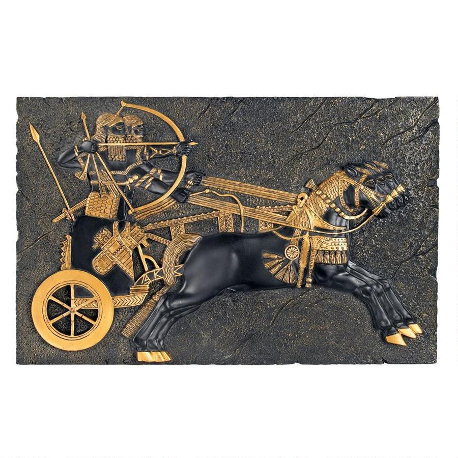 Assyrian war chariot plaque