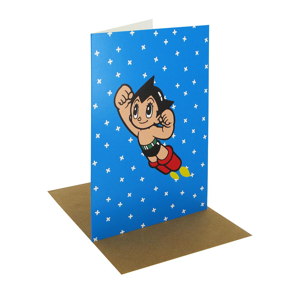 Astro boy greeting card (blue)