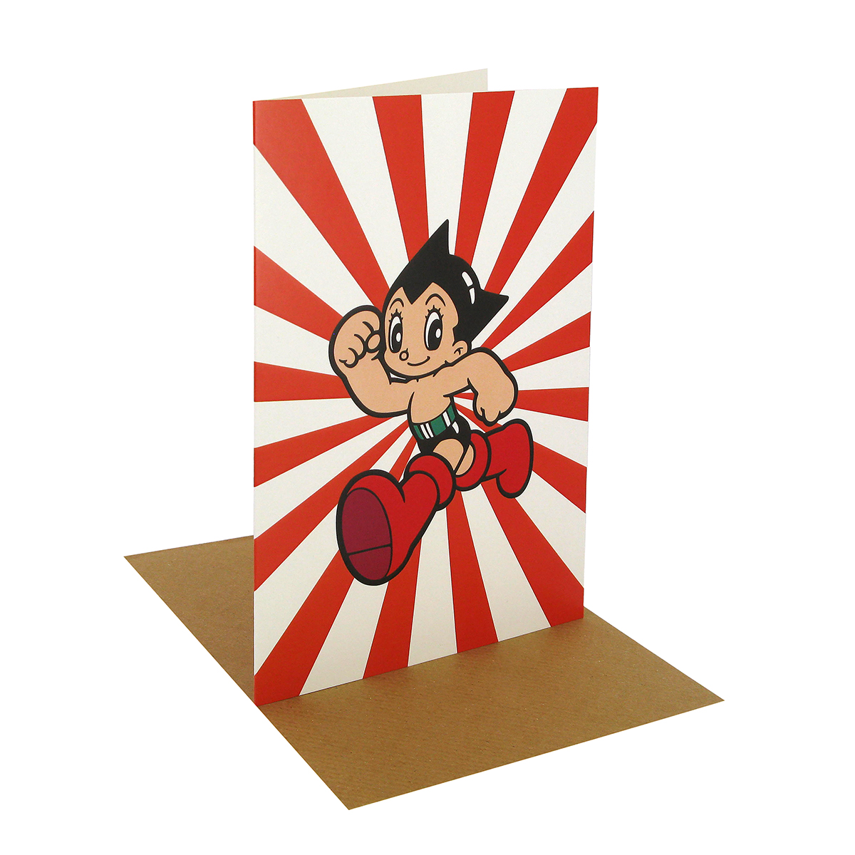 Astro boy greeting card (red)