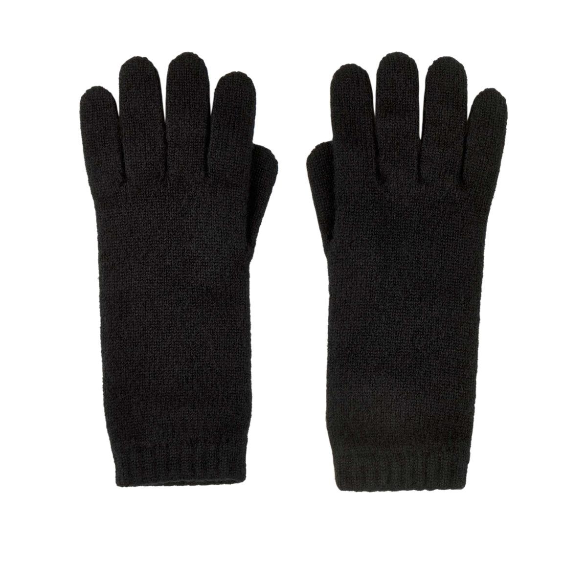 Black cashmere women's gloves