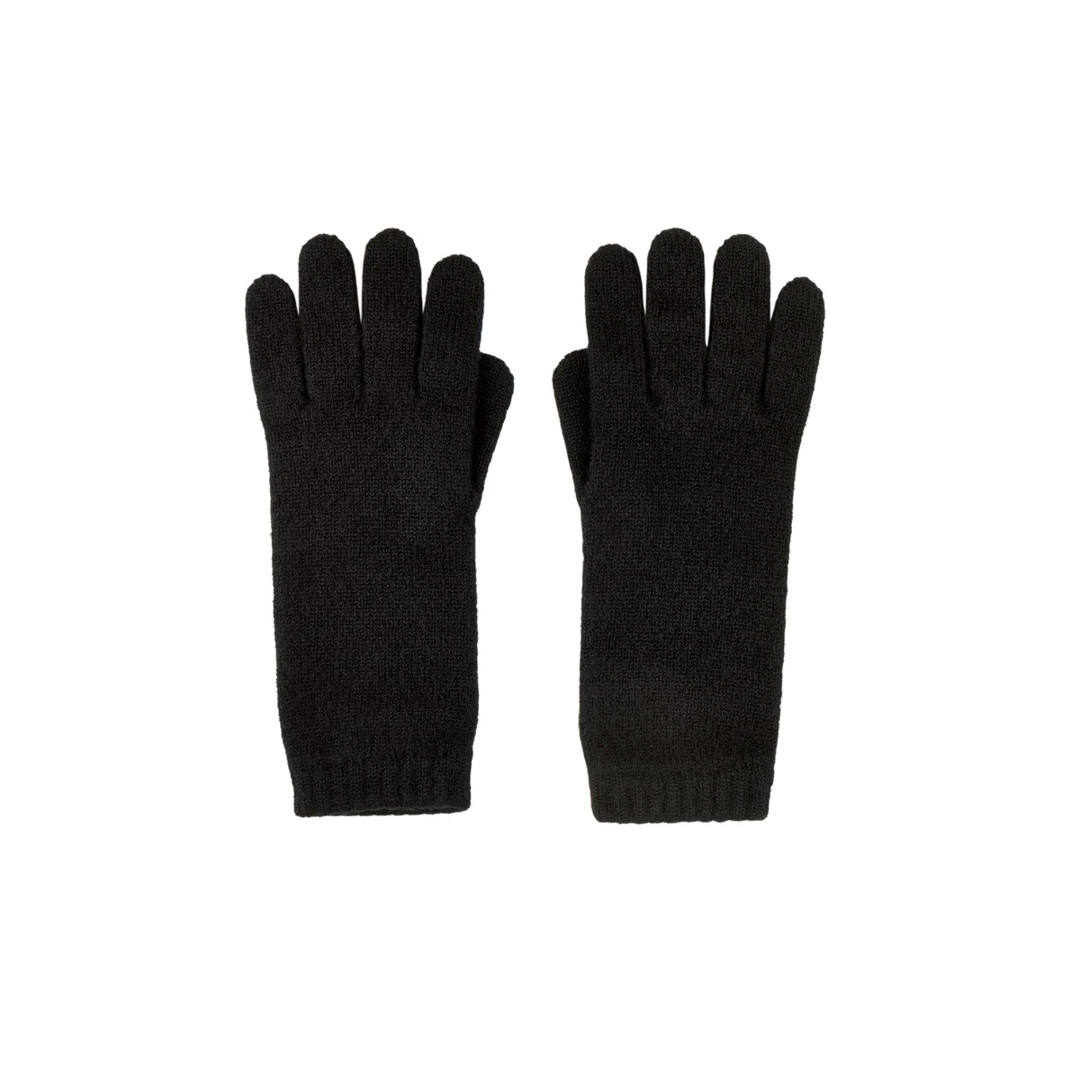 Black cashmere womens gloves