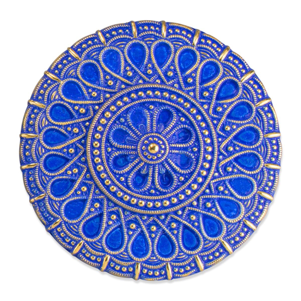 Assyrian blue brooch
