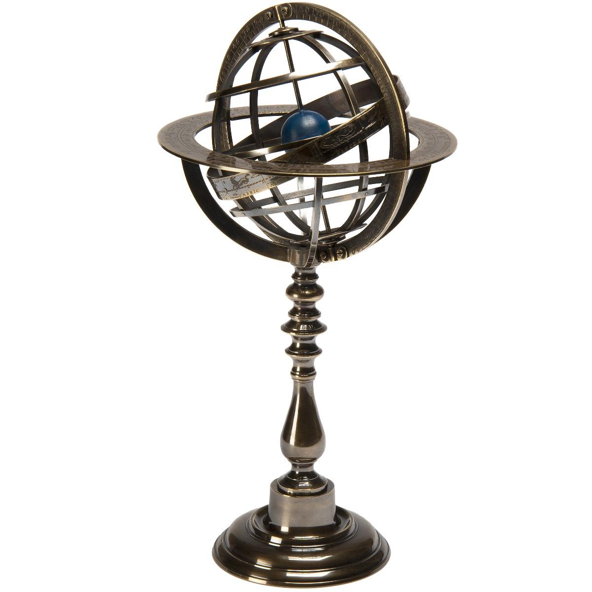 Bronze armillary dial globe