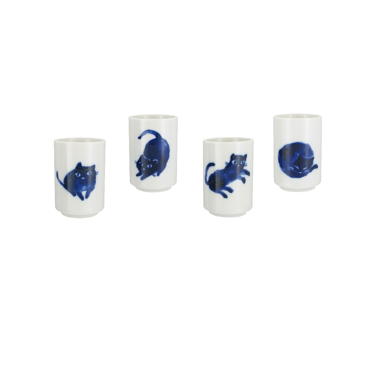 Cat cups (set of 4)