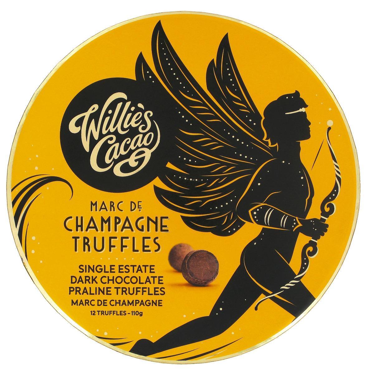 Dark chocolate Praline truffles with Champagne