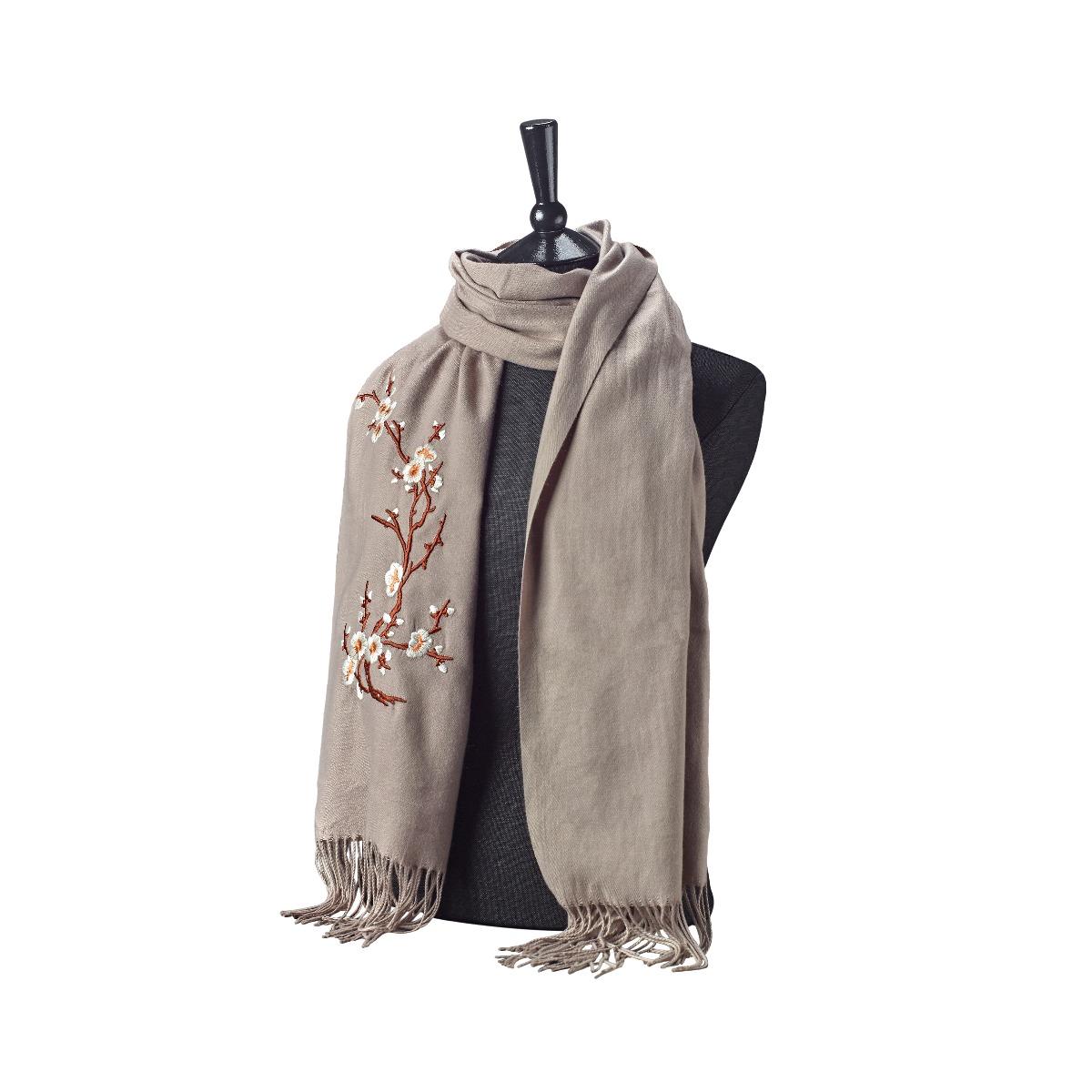 Cherry blossom scarf (beige)