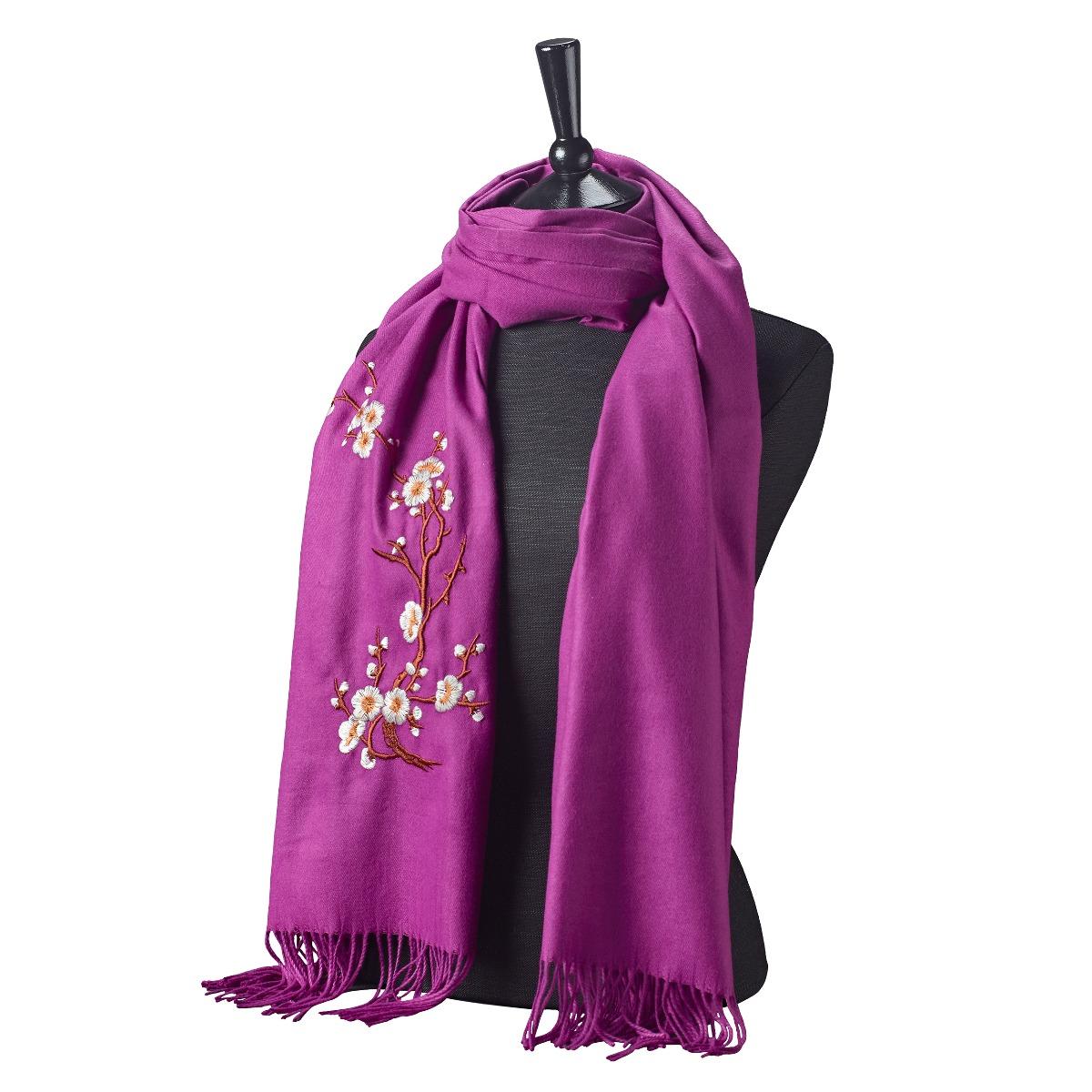 Cherry blossom scarf (purple)