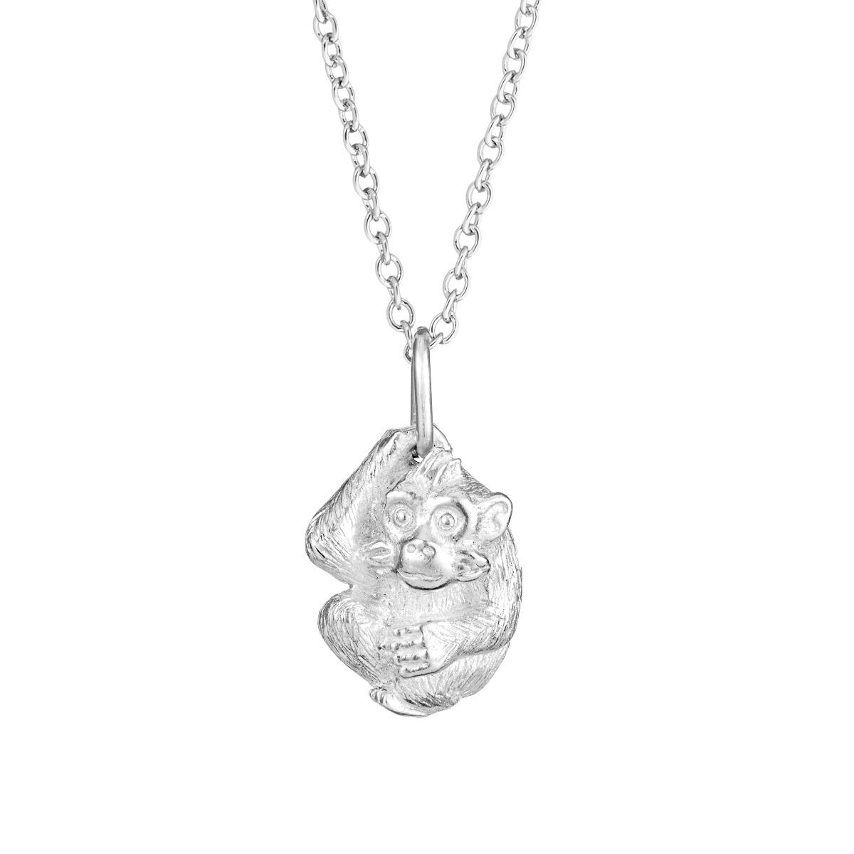 Chinese zodiac pendant necklace (monkey)