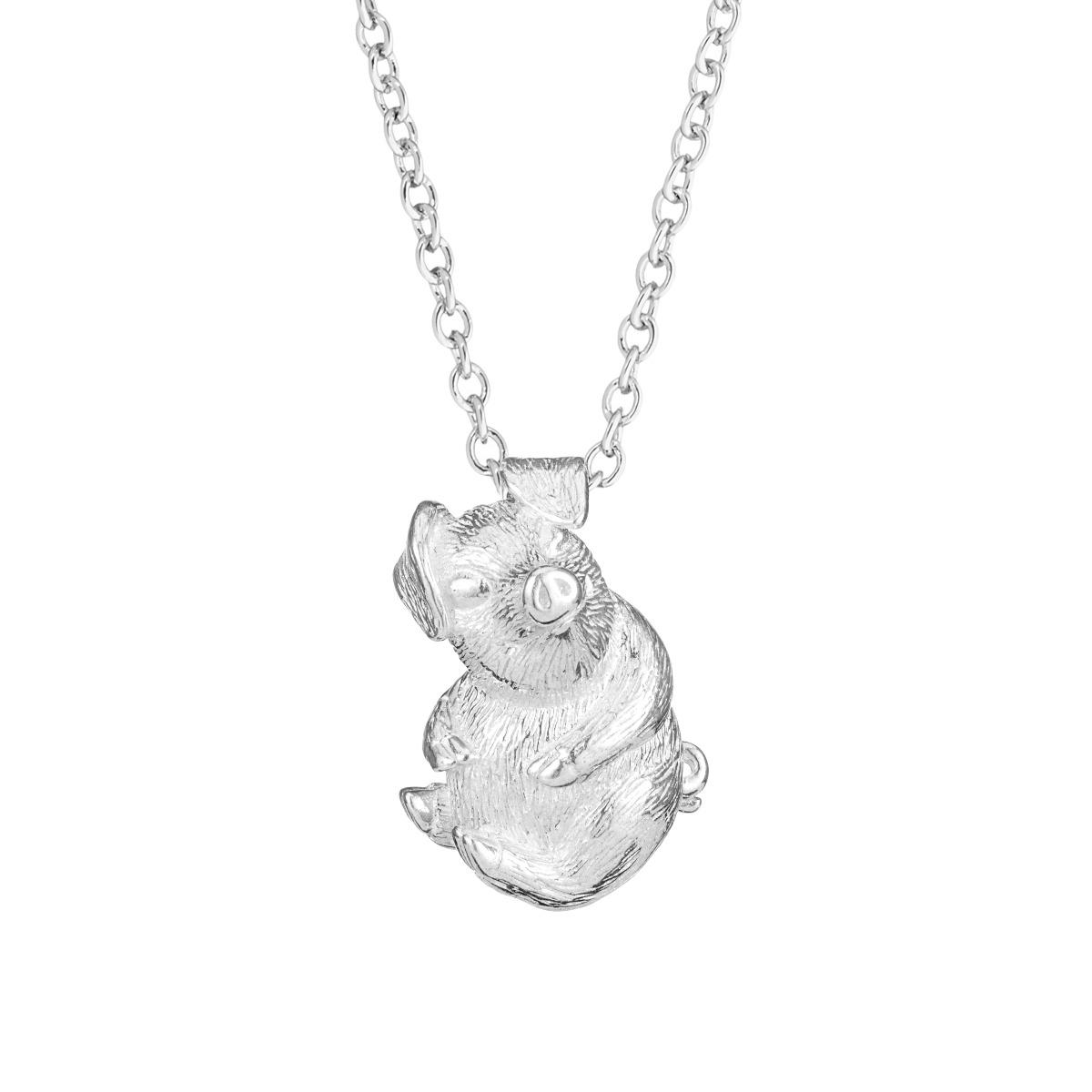 Chinese zodiac pendant necklace (pig)
