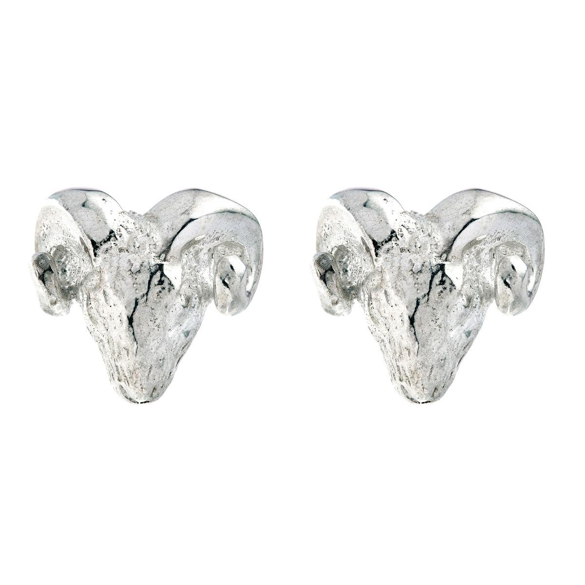 Chinese zodiac stud earrings (goat)
