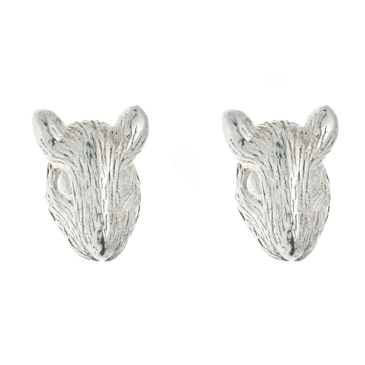 Chinese zodiac stud earrings (rat)