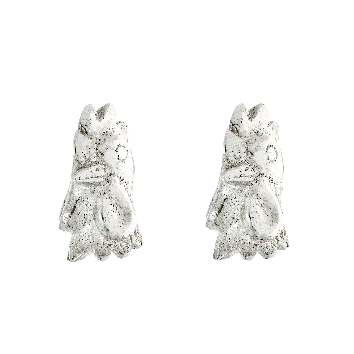Chinese zodiac stud earrings (rooster)