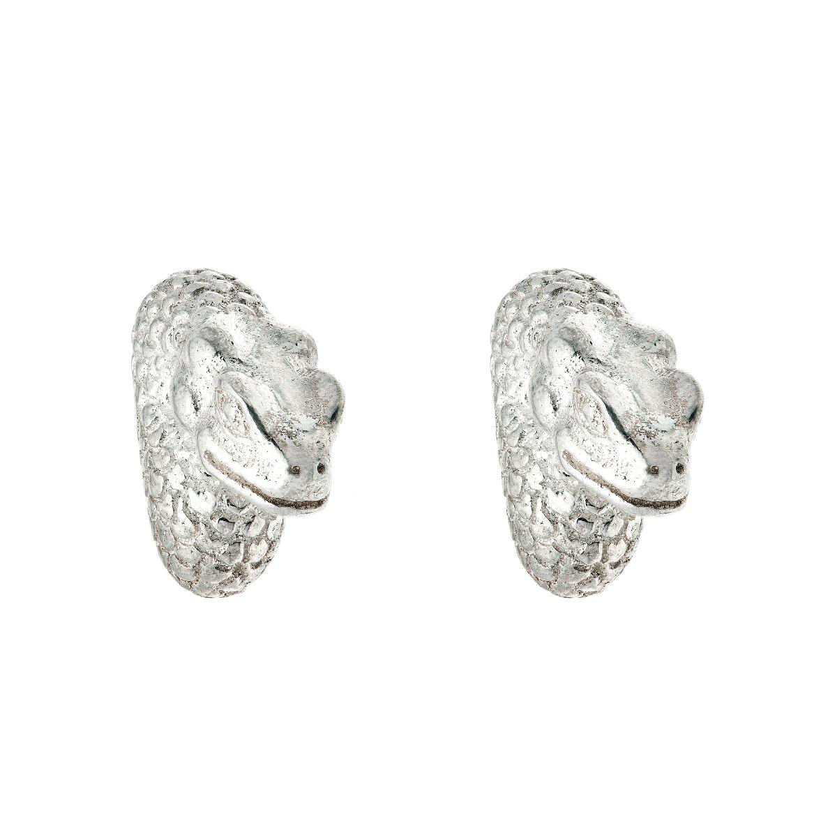 Chinese zodiac stud earrings (snake)
