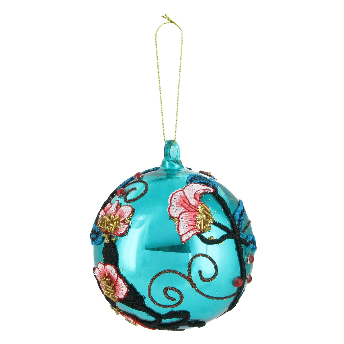 Christmas glass embroidery bauble