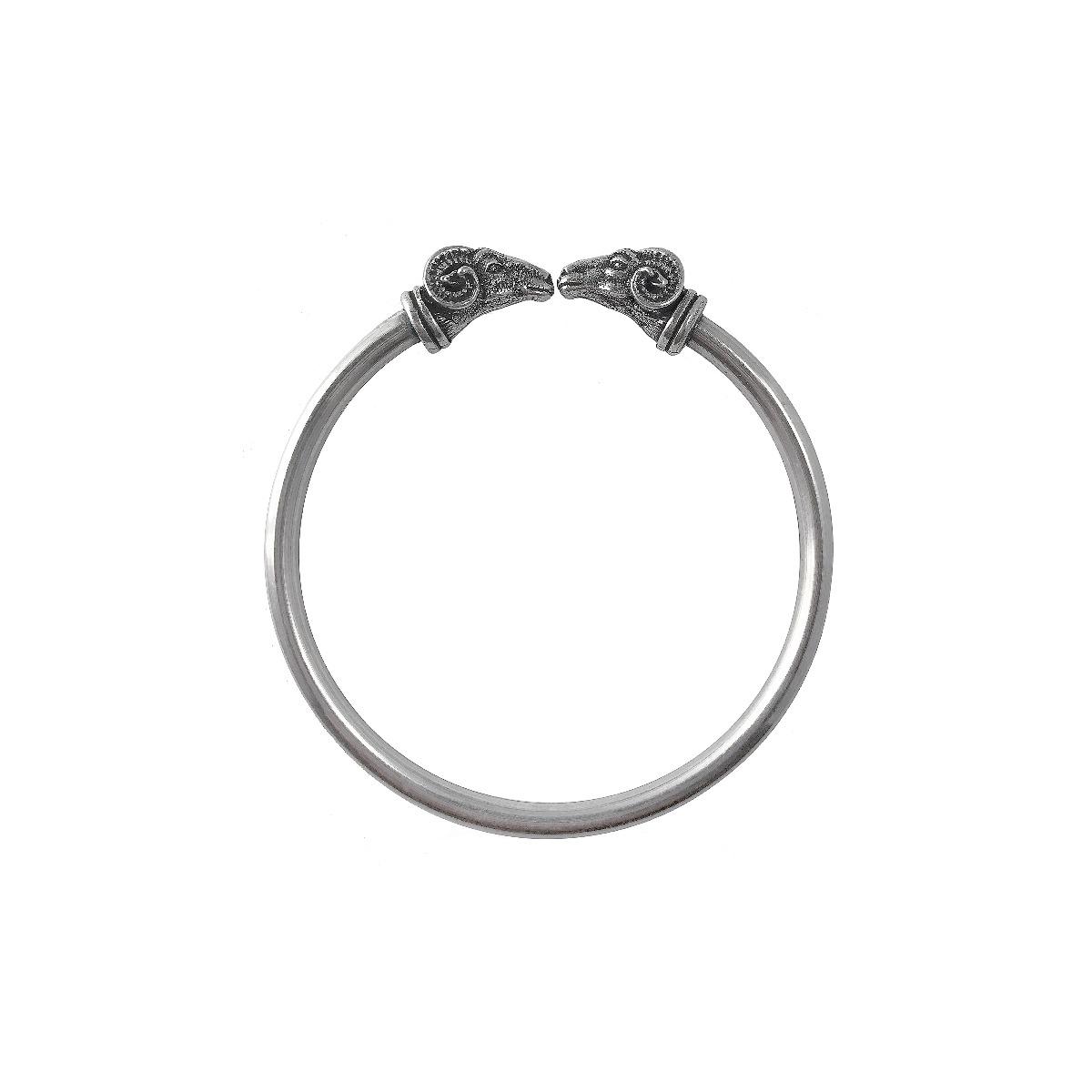 Classical ram silver bracelet